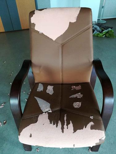 大渡口旧座椅翻新