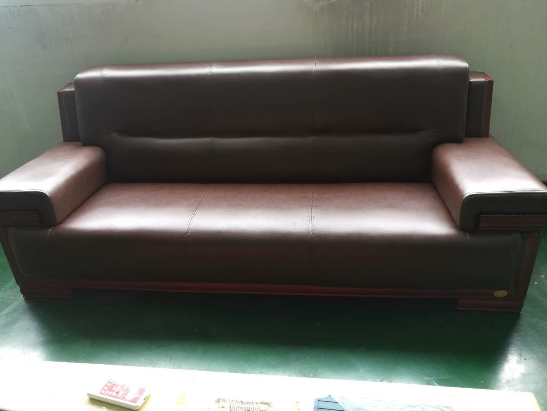 皮沙发翻新前后对比图